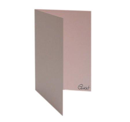 Karta bigowana A6 różowa perłowa - GoatBox