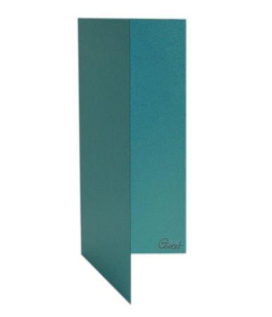 Karta bigowana DL turkusowa perłowa - GoatBox