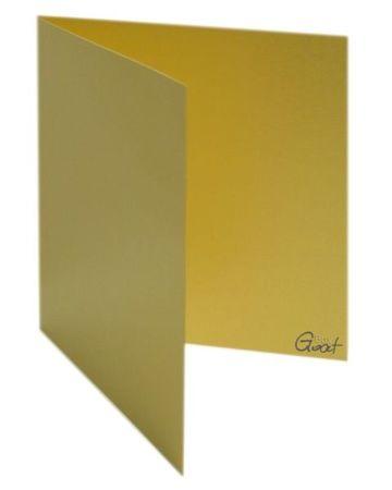 Karta bigowana kwadrat złota perłowa - GoatBox