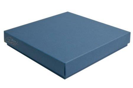 Pudełko na kartkę kwadratową ciemny niebieski - GoatBox