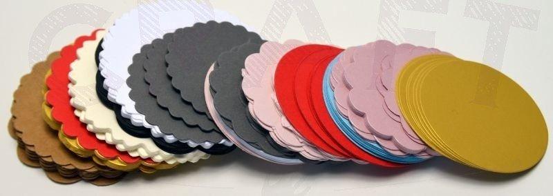 Serwetki kółeczka 5,5cm  7,8cm mix kolorów i wzorów zestaw 100szt GoatBox