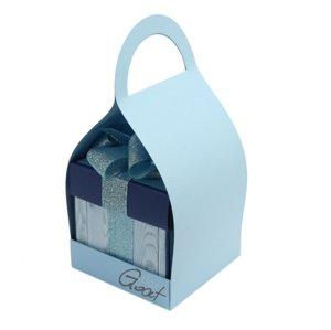 Trzymak nosidełko na exploding box - błękitny matowy