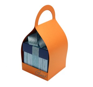 Trzymak nosidełko na exploding box - pomarańczowy perłowy