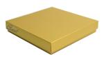 Pudełko na kartkę kwadratową  - złoty perłowy - GoatBox